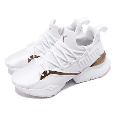 Size All Women's White Bronze Muse Maia Luxe Puma Trainers aFwfq8cT