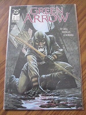GREEN ARROW #2 1988 MIKE GRELL Bagged and Boarded- C553
