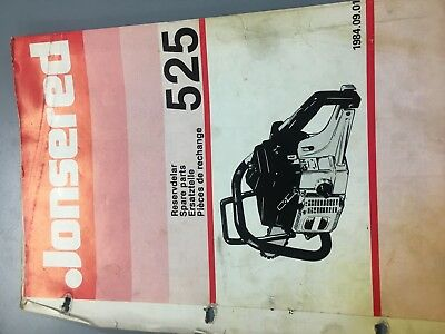 jonsered 525 chainsaw dealer illustrated parts list 19840901 jonsered chainsaw illustrated parts lists and carburetor manuals cd