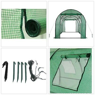 Walk-In Tunnel Greenhouse with Ventilation Windows 15 ft x 6 ft. x 6 ft. 2-Door