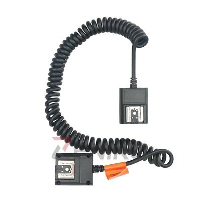 TTL Off Camera Flash 2 Hot Shoe 3M Sync Cord Cable for Nikon DSLR Speedlite TL-N