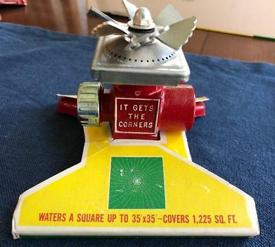 Vintage Metal Thompson Proen Square spray Sprinkler model 433 NOS New Old Stock