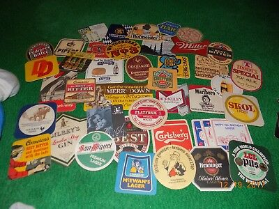 lot of beer coasters international and domestic beer bar coasters drink