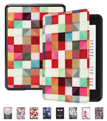 For New Kindle Paperwhite 4 2018 Thin Leather Flip Smart Sleep Awake Cover Case