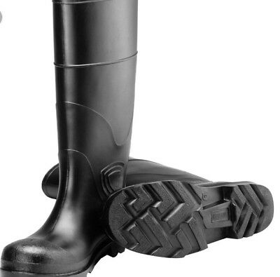 Tingley Steel Toe PVC Boots Men's 8 Women's 10 Made in USA Rubber Rain