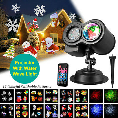 Dual Projector Light Moving Laser LED Garden Landscape Lamp Outdoor Xmas Decor