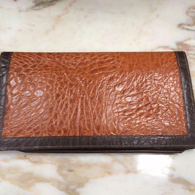Vintage Ladies Textured Leather Travel Wallet Purse