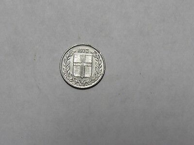Old Iceland Coin - 1973 10 Aurar - Circulated, rim dings