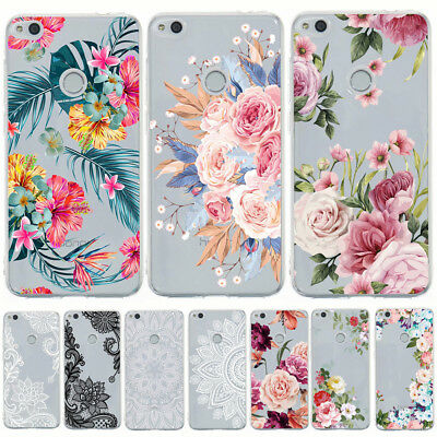 For Huawei Y6 Y7 Prime 2018 2017 Painted Clear Slim Soft Silicone TPU Case Cover