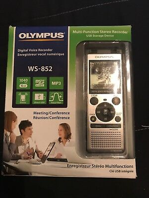 Olympus 4 GB Digital Voice Recorder WS-852 Silver