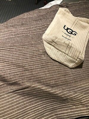 7639309a74 UGG Home Terra STANDARD PILLOW SHAM ~ Fawn Stripe Ombre Cream Brown  Free  Ship