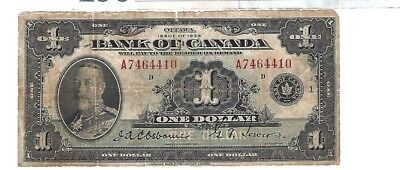 Canada 1935 Bank of Canada $1 S/N#4410