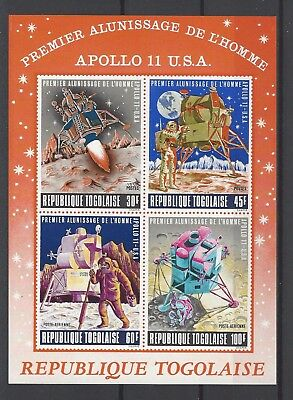 Togo 1969 Sc C108a  Man's 1st Landing on the Moon  MNH Souvenir Sheet $14.00