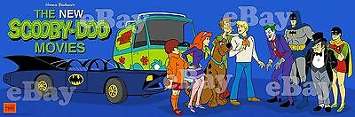 EXTRA LARGE! SCOOBY DOO MOVIES BATMAN Panoramic Photo Print HANNA BARBERA