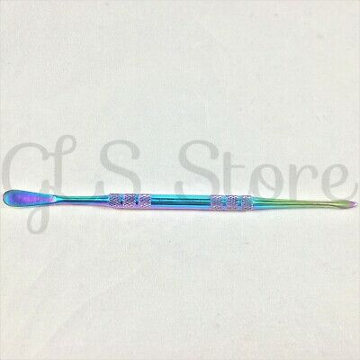"5"" Rainbow Spoon & Pick Dabber Dab Tool - Scoop Paddle Blade Scrape Carve Dual"