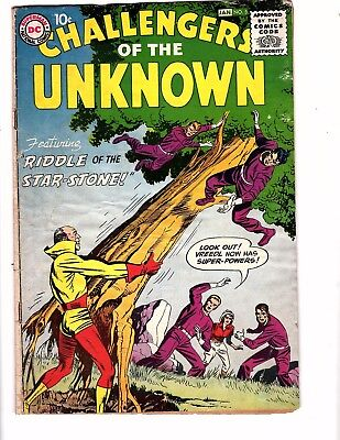 Challengers Of Unknown  #5 Dc 1958  Kirby/wood Classic Hard To Find