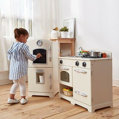 KIDS FAIRFIELD RETRO White Wooden Pretend Play Kitchen Stove ...