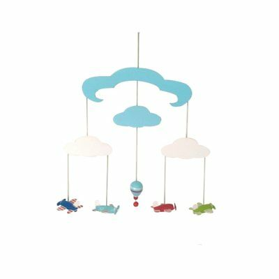 Kids Decor Hanging Wooden Mobile - Hot Air Balloon/Planes