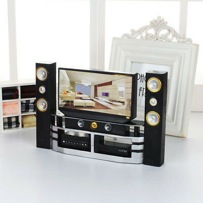 Toy TV Accessories Combo Room Dollhouse New Living Theatre Set Barbie Furniture.