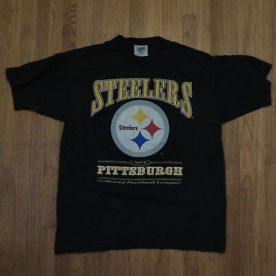 Pittsburgh Steelers Vintage 90s T shirt Nutmeg NFL Black Short Sleeve Size  XL f86a529d8