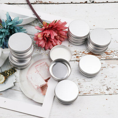 30 Pack Small Screw Round Lip Metal Tin Storage Jar Balm Containers&Lids Travel
