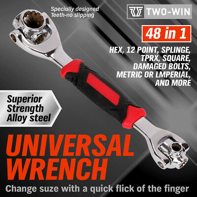 48-IN-1 Socket Wrench Universal Wrench Tiger Tools Dog Bone Metric As Seen On TV