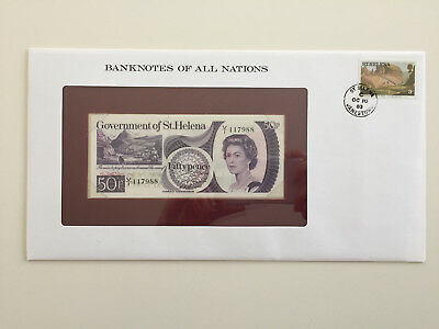 Banknotes of All Nations - St Helena 50 pence UNC