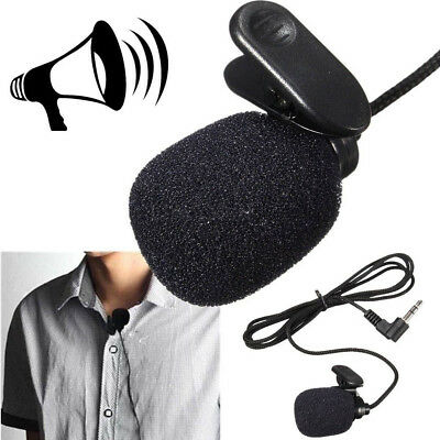 35mm Studio Speech Microphone Mic With On Lapel For PC Desktop Fast