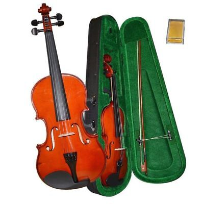 Bentoni Full Size 4/4 Natural  Acoustic Student Violin Fiddle with Case Bow USA