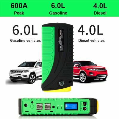 68800mAh 600A 12V Car Vehicle Jump Starter Battery Booster Emergency USB Charger