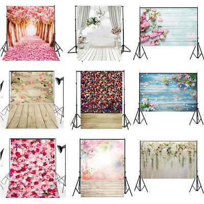 3x5ft/5x7ft Flower Wall Photo Vinyl Home Backdrop Photography Wedding Background