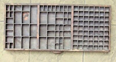 Letterpress Printing OLD POOR MILLER & RICHARD WOODEN TYPECASE Compositor Case