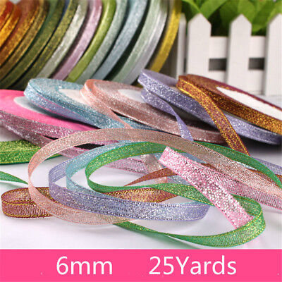 Satin Ribbon For DIY Crafts Sewing Fabric Christmas Party  Supplies Gift Wrap