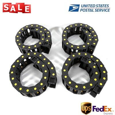 4Piece Cable chain Wire carrier chain 1m Drag chain Nylon CNC tool 25x77mm Black