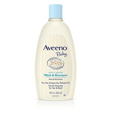 Aveeno Baby Gentle Wash Shampoo with Natural Oat Extract, Tear-Free