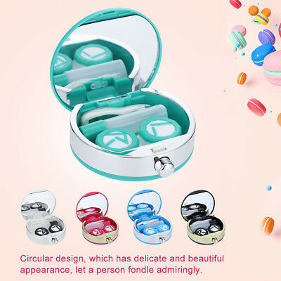 Mini Travel Contact Lens Case Box Container Holder Eye Care Kit With Mirror gw