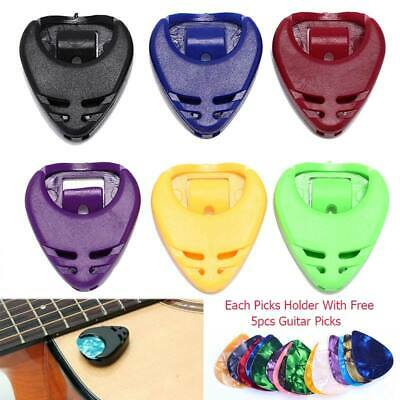 Self-adhesive Pick Holder w/ Free Plectrum for Electric Acoustic Guitar Ukulele