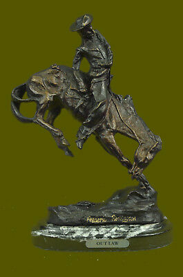 Frederic Remington Cowboy on Horse Rodeo Old West Western Art Bronze Sculpture