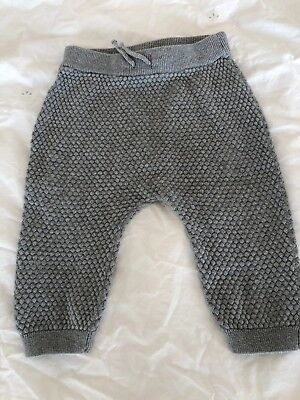 H & M Baby Boys Grey Woolly Trousers 6-9 Months