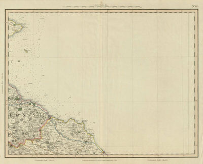 Firth of Forth. Crail, Fife Ness, Dunbar & Eyemouth. John & George Cary 1832 map