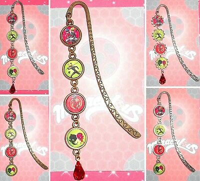 MIRACULOUS Bookmark With Pendant Book Mark Tales of Ladybug & Cat Noir Lady Bug