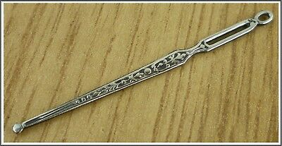 Antique French Victorian Sterling Silver Guilt Needle Sewing Tool 0.4 grams