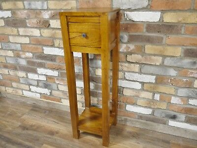 Bedside Side Telephone Table Drawer Vintage Country Shabby Chic Wooden Furniture