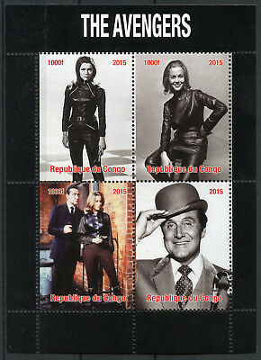 Congo 2015 MNH The Avengers TV Series John Steed Emma Peel 4v M/S Stamps