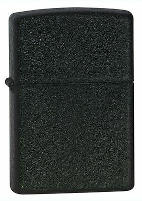 "Zippo ""Black Crackle"" Finish Lighter, Full Size,  ***Flints & Wick***   236"
