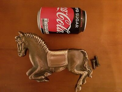 Large Vintage Antique bronze door handle pull knob HORSE FIGURINE EQUESTRIAN