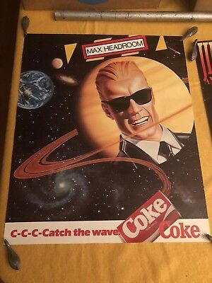 "Max Headroom poster 17""x14"""
