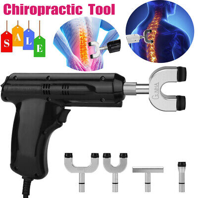 Electric Chiropractic Adjusting Tool Therapy Spine Massager 110V-220V +4 Heads s
