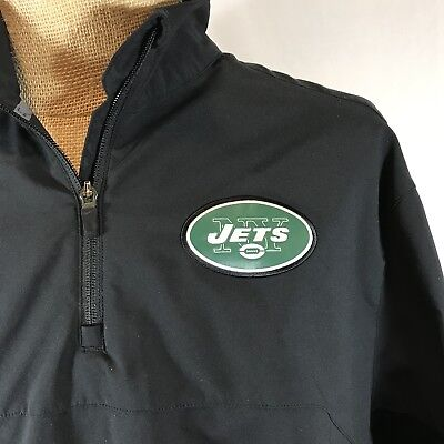 2f640ed79 New York Jets Pull Over Nike Dri Fit On Field Apparel NFL Football Jacket  Black