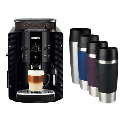 Krups EA 8108 Espresso-Kaffee-Vollautomat + EMSA TRAVEL MUG Isolierbecher